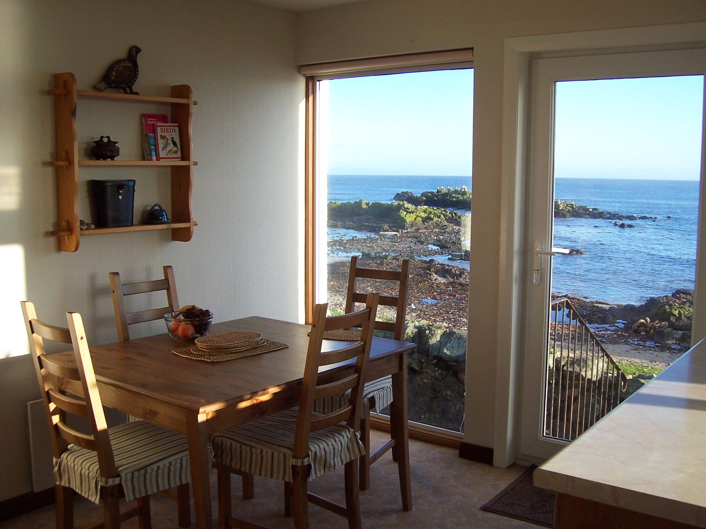 view from kitchen across Machrihanish Bay